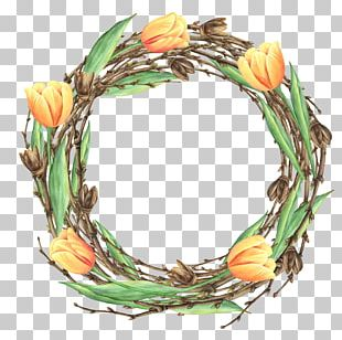Floral Design Flower Wreath Garland PNG