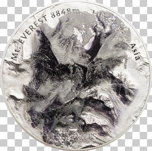 Silver Coin Mount Everest Metal PNG