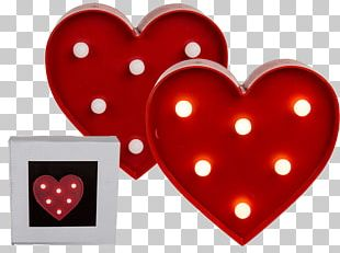 Light Valentine's Day Heart Gift Love PNG