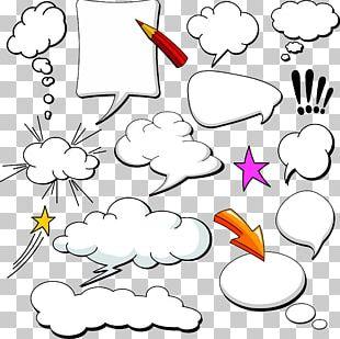 Comics Speech Balloon Cloud PNG