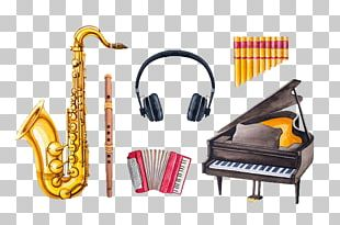 Piano Musical Instruments Watercolor Painting Illustration PNG