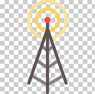 Antique Radio Aerials Telecommunications Tower Base Station PNG