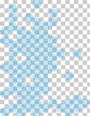 Blue Honeycomb Hexagon PNG