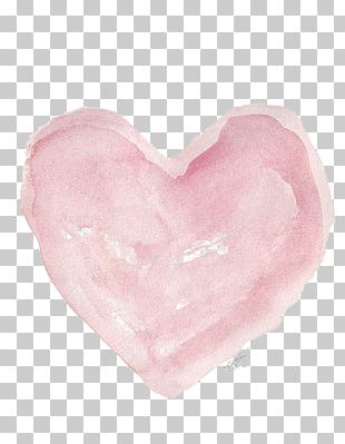 Watercolor Painting Heart Illustration PNG