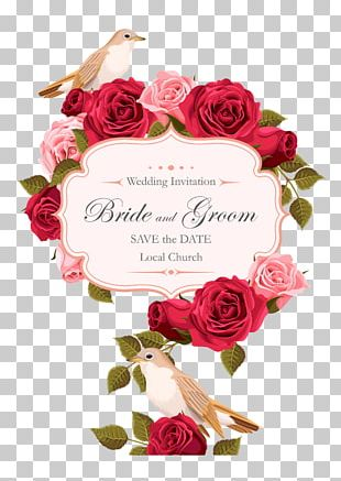 Wedding Invitation Rose Euclidean PNG