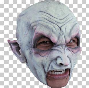 Latex Mask Vampire Halloween Costume PNG