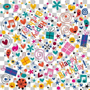 Birthday Party Pattern PNG