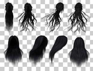 Black Hair Wig Long Hair PNG