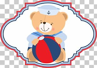 Bear Sailor Party Paper Baby Shower PNG