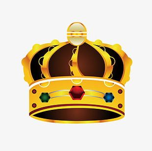 Crown Gold Crown Material PNG