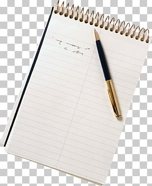 Paper Notebook Writing PNG