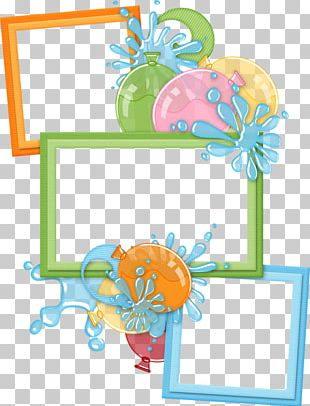 Birthday Party Frames Scrapbooking PNG