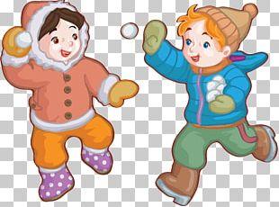 Child Snowman Cartoon Winter PNG