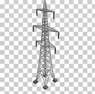 Transmission Tower Electricity Electric Power Transmission Utility Pole Overhead Power Line PNG