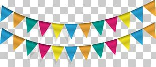 Pennon Flag Banner Party Bunting PNG