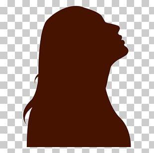 Silhouette Woman Eastern University Eagles Women's Basketball PNG