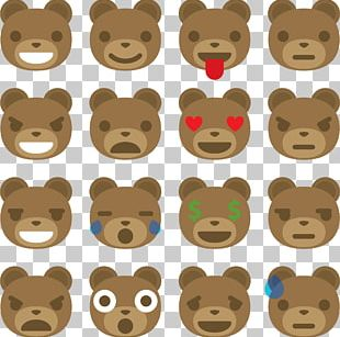 Brown Bear Giant Panda Emoticon PNG
