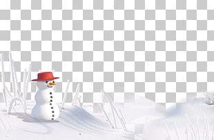 Arctic Winter Snowman Desktop PNG