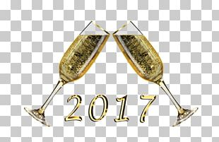 Champagne Glass Sparkling Wine New Year PNG
