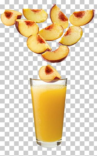 Orange Juice Cocktail Orange Drink Peach PNG