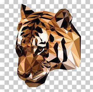Tiger Graphic Design Poster PNG