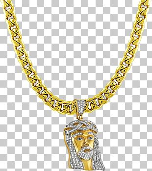 Necklace Gold Chain Jewellery Pendant PNG