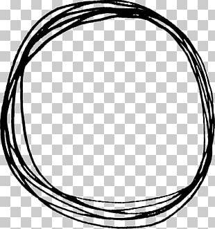 Circle Drawing Doodle PNG