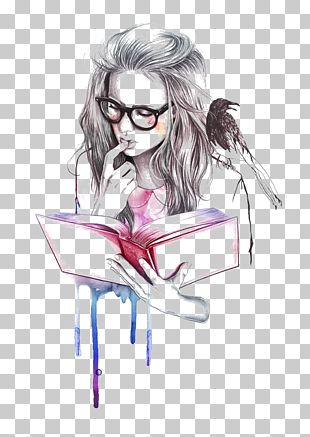 Drawing Reading Book Illustrator Illustration PNG