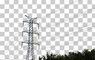 Transmission Tower High Voltage Overhead Power Line Power Cable PNG