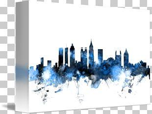Skyline Canvas Print Art Gallery Wrap PNG