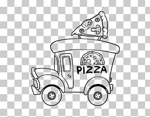 Pizza Hut Junk Food Coloring Book PNG