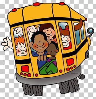 School Bus Open Field Trip PNG
