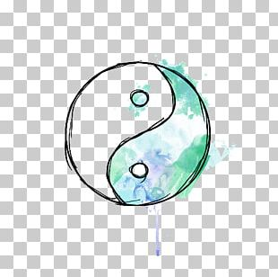 Drawing Yin And Yang Watercolor Painting PNG