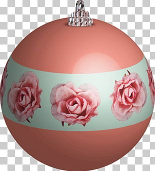 Rose Family Christmas Ornament Pink M PNG