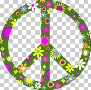 T-shirt Peace Symbols Flower Power PNG
