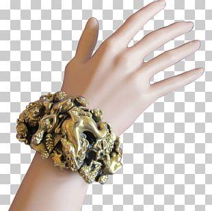 Hand Model Nail Jewellery Gold Bracelet PNG