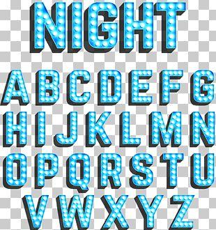 Neon Lighting Blue PNG
