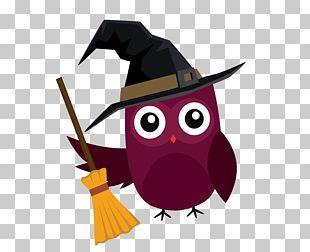 Owl Halloween Cartoon Illustration PNG
