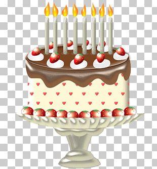 Birthday Cake Torte Cream Pie Chocolate Cake PNG