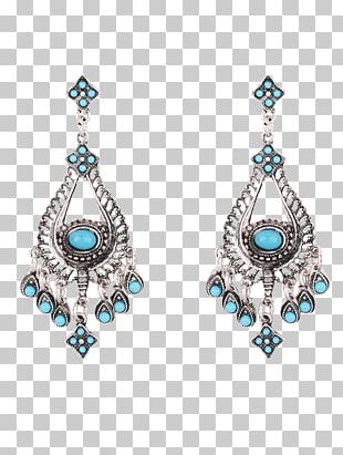 Turquoise Earring Body Jewellery Woman PNG