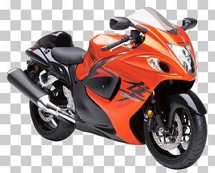 Suzuki Hayabusa Motorcycle Orange Mountain Bikes Sport Bike PNG