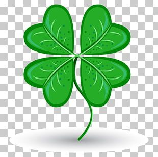 Saint Patricks Day Four-leaf Clover Symbol Luck PNG