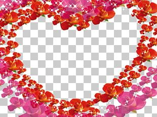 Beach Rose Heart Valentines Day Icon PNG