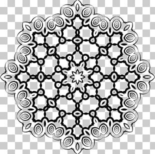 Line Art Black And White Drawing Circle PNG
