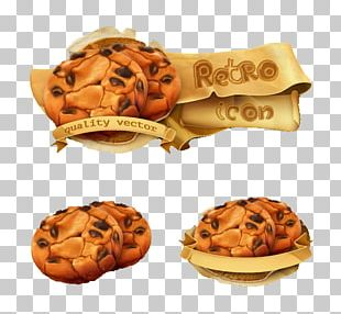 Ice Cream Chocolate Chip Cookie PNG