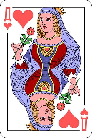 Playing Card Queen Regnant Public Domain Ace Of Hearts PNG