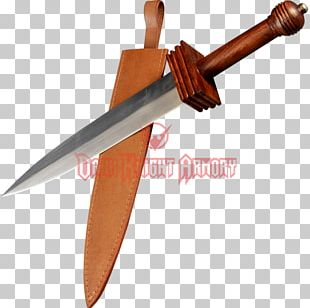 Bowie Knife Throwing Knife Dagger Sword PNG