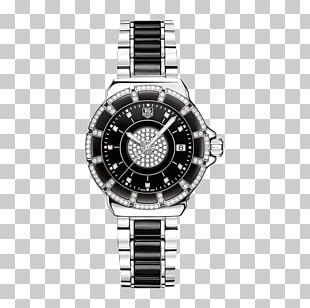 TAG Heuer Watch Diamond Quartz Clock Luneta PNG