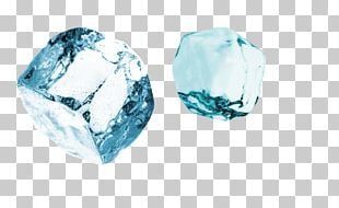 Ice Cube Geometry Blue Ice PNG