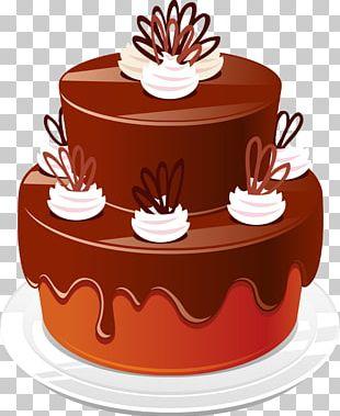 Chocolate Cake Sachertorte Birthday Cake PNG